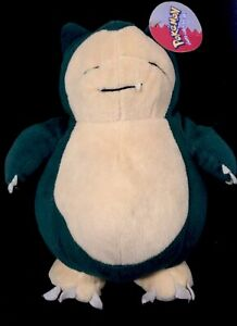 Vintage-Rare-1999-Pokemon-Plush-Toy-Snorlax-Play-By-Play-Still-With-Original-Tag