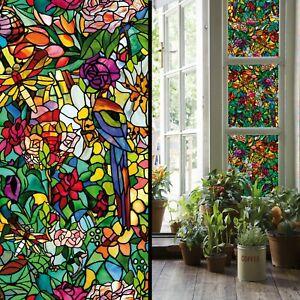 Fensterfolie 6 3 M Tulia Klebefolie Transparent Bunt Buntglas Folie D C Fix Ebay