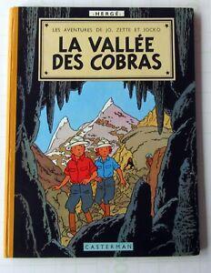 JO-ZETTE-JOCKO-HERGE-LA-VALLEE-DES-COBRAS-B27-1960-TTBE