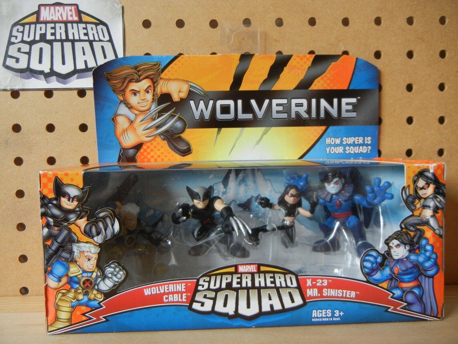 Marvel súper Hero Squad Hunt for Mr. siniestro 4-PK con Cable X-23 & Wolverine