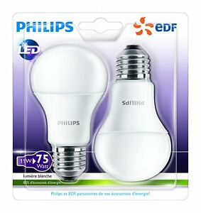 Philips-Lot-de-2-Ampoules-LED-Standard-Culot-E27-11W-75-W