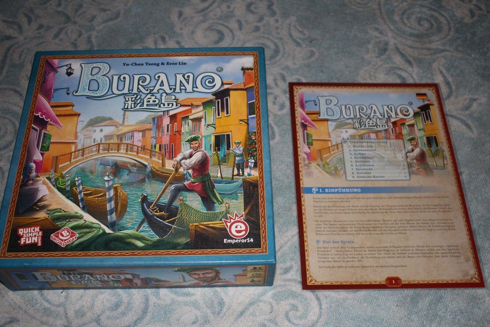 NEU Burano - Spieleschmiede mit deutscher Anleitung - Brettspiel / Spiel
