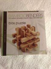 2 Eco-Friendly Bamboo Puzzles Brain Teaser Mind Bender Fun Games NIB Sealed