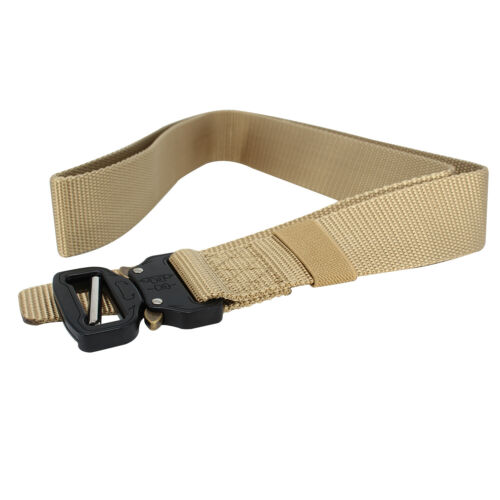 Army Style Webbing Belt Quick Release Buckle Military Tactical Nylon Waistband