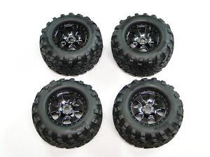 NEW-HPI-SAVAGE-X-4-6-RTR-Wheels-amp-Tires-Set-17mm-XL-5-9-FLUX-HXR31
