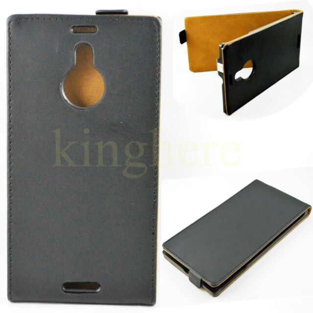 Black Flip Leather Pu Phone Accessories Pouch Skin Cover Case For Various Phones