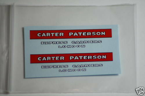 Dinky 25b Covered WagonCARTER PATERSONWaterslide Transfer/Decal