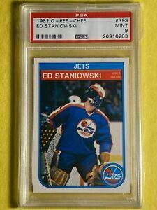 1982 O-Pee-Chee OPC ED STANIOWSKI #393 WINNIPEG JETS NHL Card PSA 9 Mint