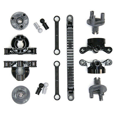 Lego Technic - Steering Wheels Hubs Axles Rack Control Arms - 15 Parts - NEW