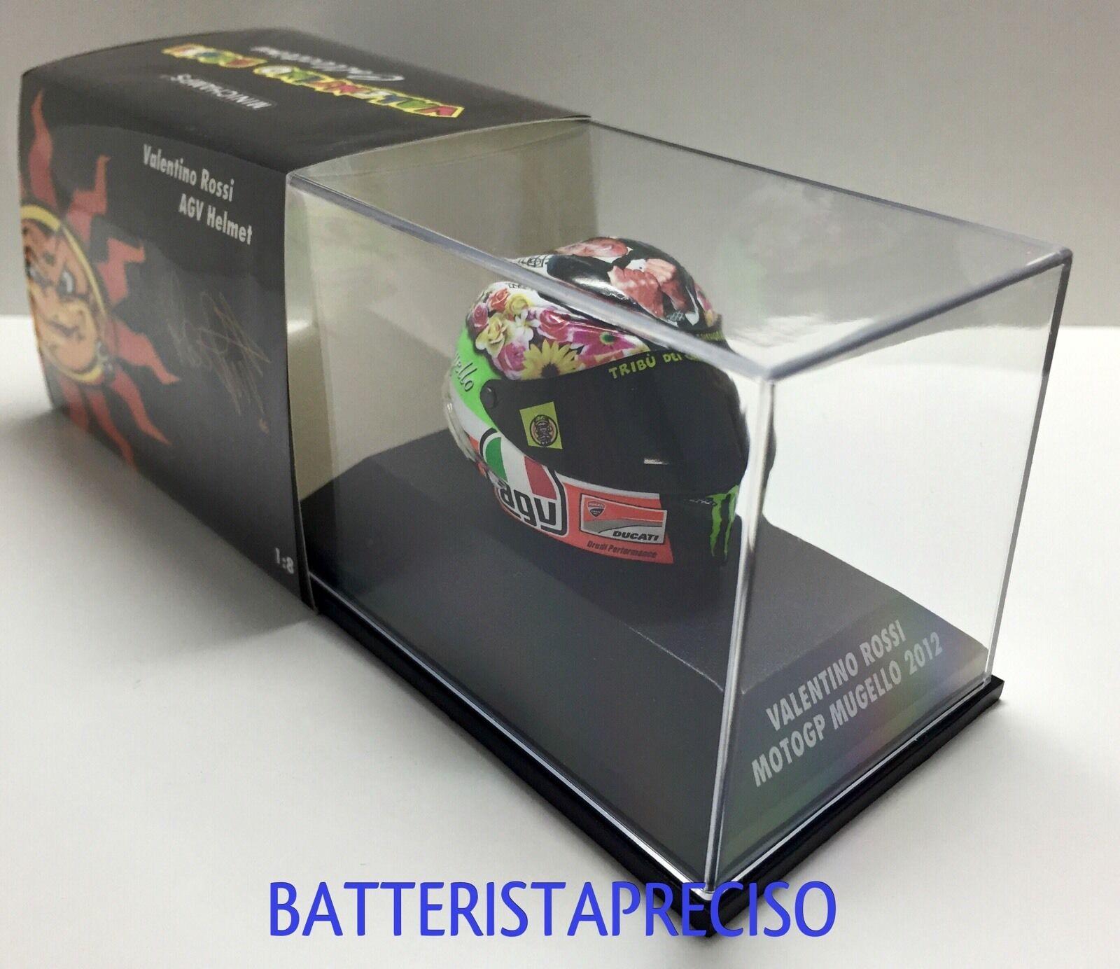 MINICHAMPS VALENTINO ROSSI AGV HELMET HELMET HELMET 1 8 GP MUGELLO 2012 CASCO DUCATI 398120086 6ca01f