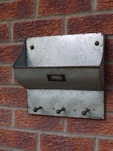 Industrial Vintage Metal Wall Cabinet Shelf Storage Unit GREY Coat ...