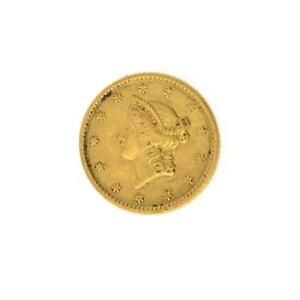 Rare-1851-1-U-S-Liberty-Head-Gold-Coin-Lot-1868271