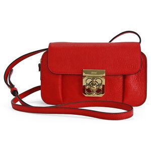 chloe it bags - Chloe Elsie Mini Calfskin Leather Crossbody Bag Red | eBay