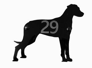 Newfoundland Dog Door House Number Sign Plaques in Black