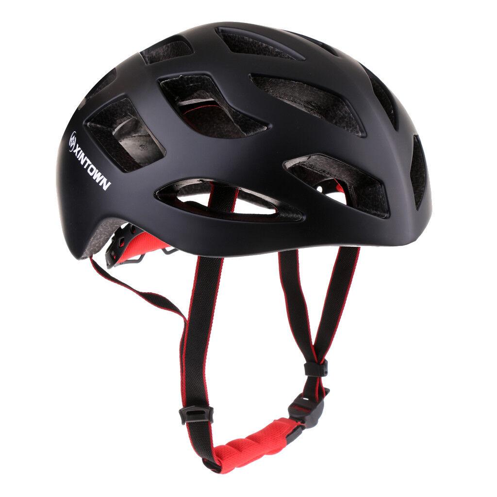 CASCO ciclismo per Adulti Uomini Donne Mountain Bicicletta Testa di sicurezza prossoezione NERO