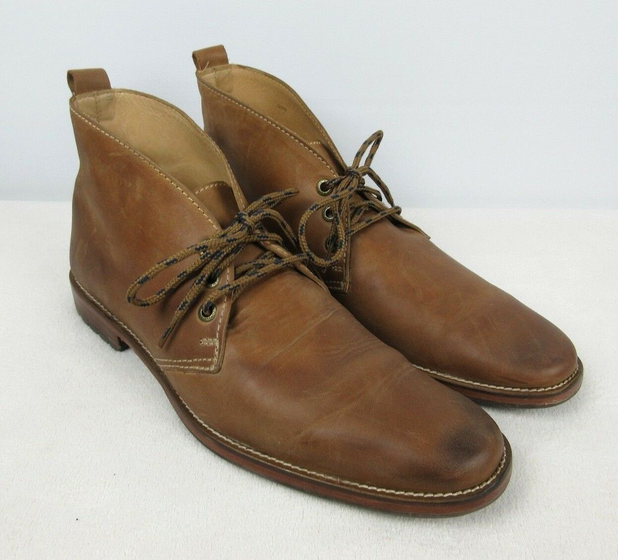 J.L. POWELL Sporting Life Chukka Ankle Desert Boots Tan Sz 11 NICE Men's