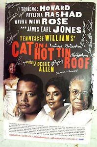Original Black Cast Signed Broadway Poster - Cat on a Hot Tin Roof