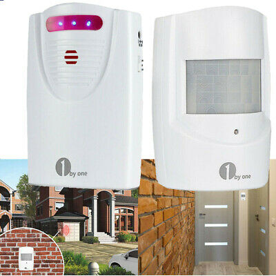 1byone Wireless Motion Alert Outdoor Alarm Security System for Home Driveway New