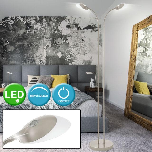 LED flexo Stand Lámpara Dormitorio Lectura Iluminación de pie Focos giratoria