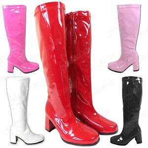 Ladies-Women-Girls-Fancy-Dress-Kinky-Party-Retro-60s-70s-Party-GoGo-Boots-UK-3-8