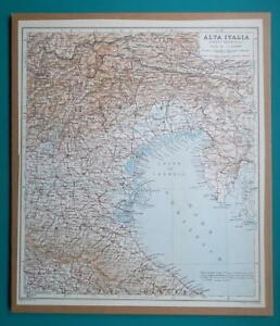 Map Of North East Italy.Italy North East Part 1931 Baedeker Map 10 5 X 12 5 26 5 X 32 Cm