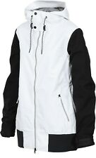Womens black and white snowboard jacket