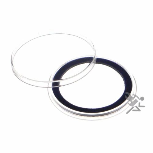 5 Pack Air-Tite 38mm Blue Velour Ring Coin Capsule Holders