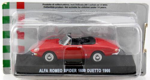 Alfa Romeo 1600 Spider Duetto rot 1967 1:43 Altaya Modellauto
