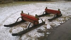 Antique Logging Sled Sleigh Horse Drawn Log Hauler Lumberjack 6