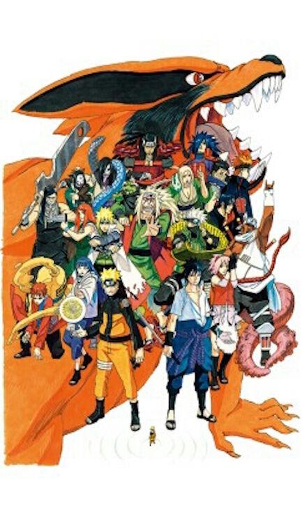 Naruto Exhibition Limited Original Art Picture Replica Japan Anime Ornament rare