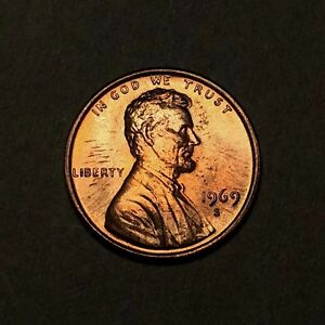 1969-S-Lincoln-Memorial-Cent-1C-Gem-Uncirculated-Colorful-Toning