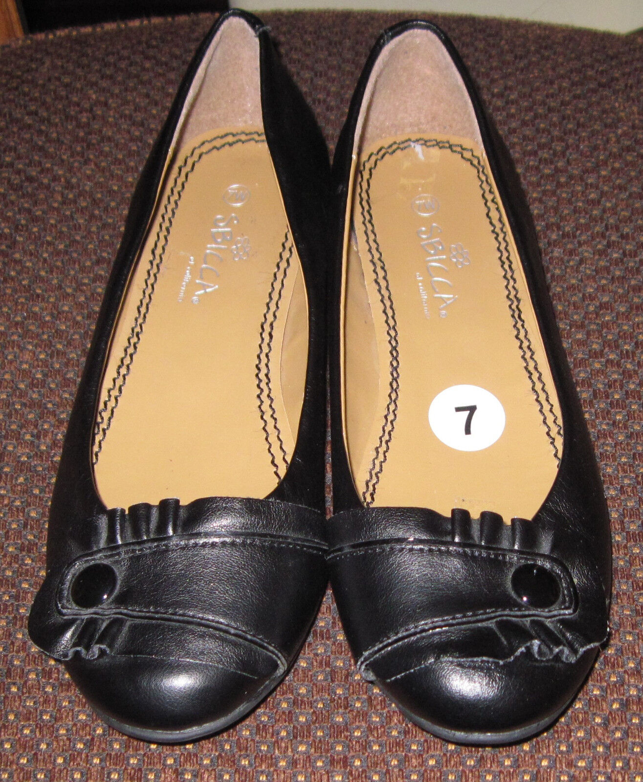 SBICCA New of California Black  Size 7 Wide New SBICCA Unworn Flats No Box f3482f