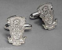 Lambda Chi Alpha, Λχα, Crest Cufflinks .925 Sterling Silver By Mccartney