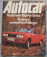 Autocar magazine 11/12/1976 featuring MG Record Breakers, Toyota, RAC rally