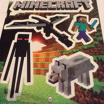 Pegatina/sticker/Autocollant: Minecraft Logo +4 Imagenes Variadas.