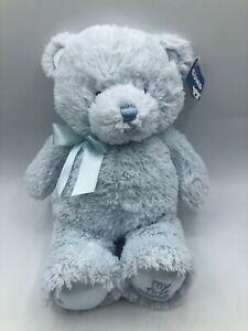 Baby-Gund-My-First-Teddy-Light-Blue-Bear-Plush-Kids-Soft-Stuffed-Toy-Animal-Doll