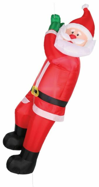 Lion 6-Ft H Lighted Christmas Santa Hat Airblown Inflatable Outdoor Yard Decor