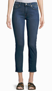 7 For All Mankind Roxanne Straight-Leg Ankle Jeans Vintage bluee NWT