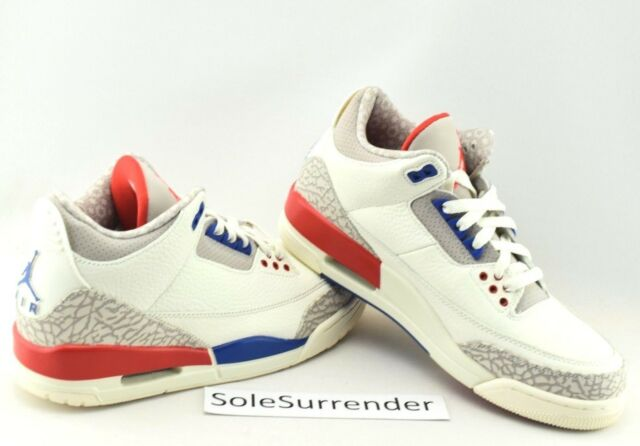 online store 124f9 5a95d Nike Air Jordan 3 Retro International Charity Game Sail 136064-140 Shoe  Size 15
