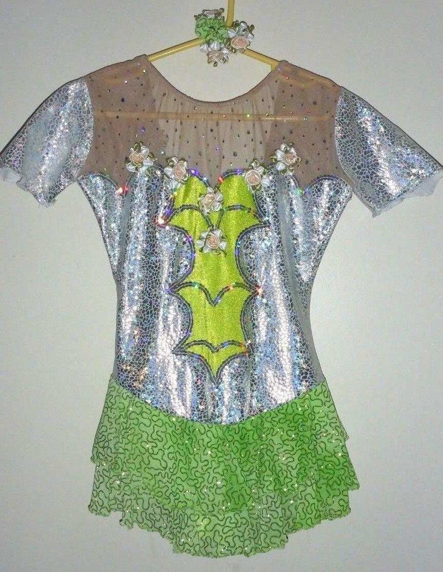 Size Appr 7-8 Girls SKATING Competition DRESS Beautiful EUC