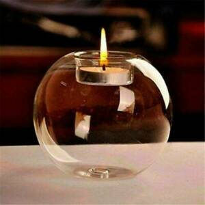 Round-Tea-Light-Candle-Holders-Modern-Clear-Glass-Design-Candlestick-Party-Decor
