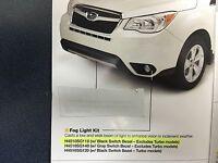 2016 Subaru Forester Factory Fog Light Lamp Kit Black Int H4510sg110 Genuine