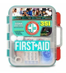 First Aid Kit, Meets OSHA Workplace Guidelines/Sma