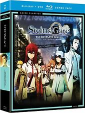 Steins;Gate . The Complete Series . 01-25 . Part 1 & 2 Anime . 4 DVD + 4 Blu-ray