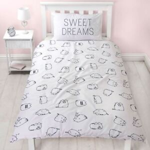 Officiel-Pusheen-Sucre-Set-Housse-de-Couette-Simple-Blanc-Polycoton