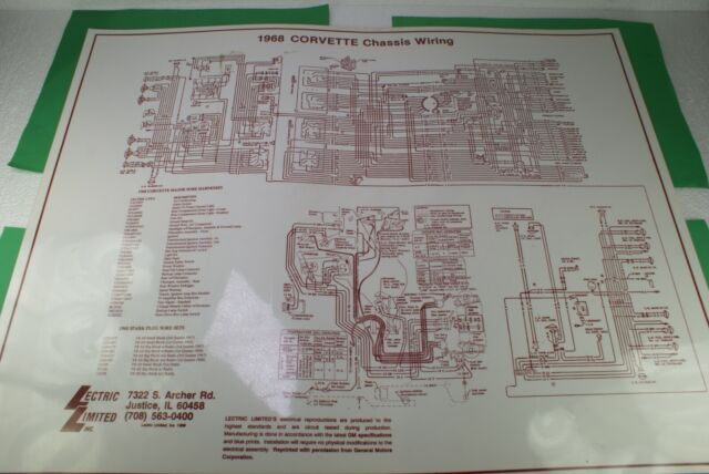 1968 Corvette Chassis Wiring Diagram Laminated Lectric