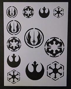 Star Wars Rebel Empire Sith Jedi Logo Seal 8 5 X 11 Stencil Fast Free Shipping Ebay