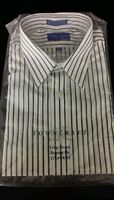 Towncraft Mens Dress Shirt--long Sleeve Regular Fit White Stripe 17 1/2 Nip