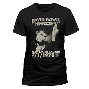David-Bowie-T-Shirt-Heroes-Earls-Court-1978-Official-Black-Mens-Classic-Rock-78