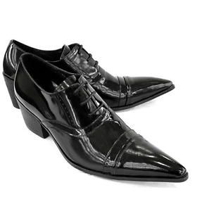 Dress Party Lace Talon Business Formelles Mens Pointy Hot Cubain Club Up Sz Toe Chaussures bYyI7gfv6